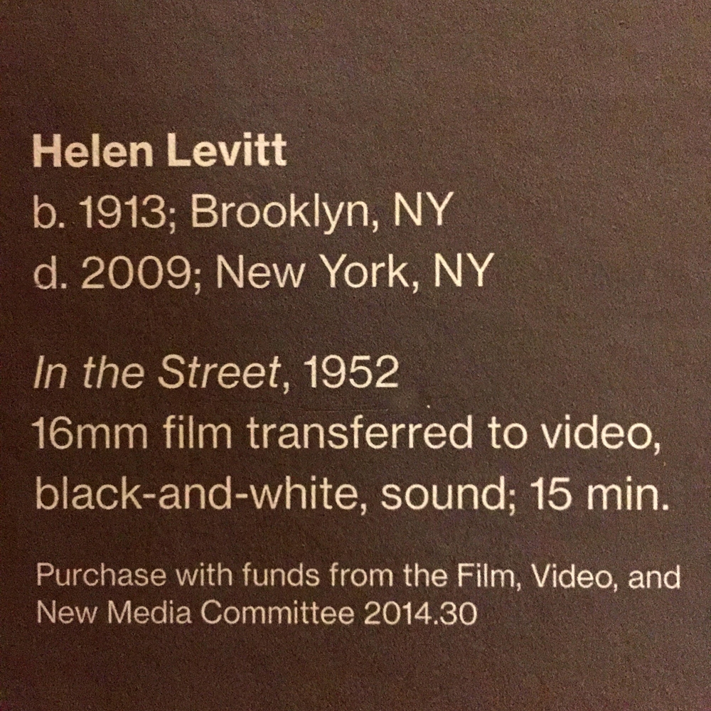 HELEN LEVITT AT THE WHITNEY