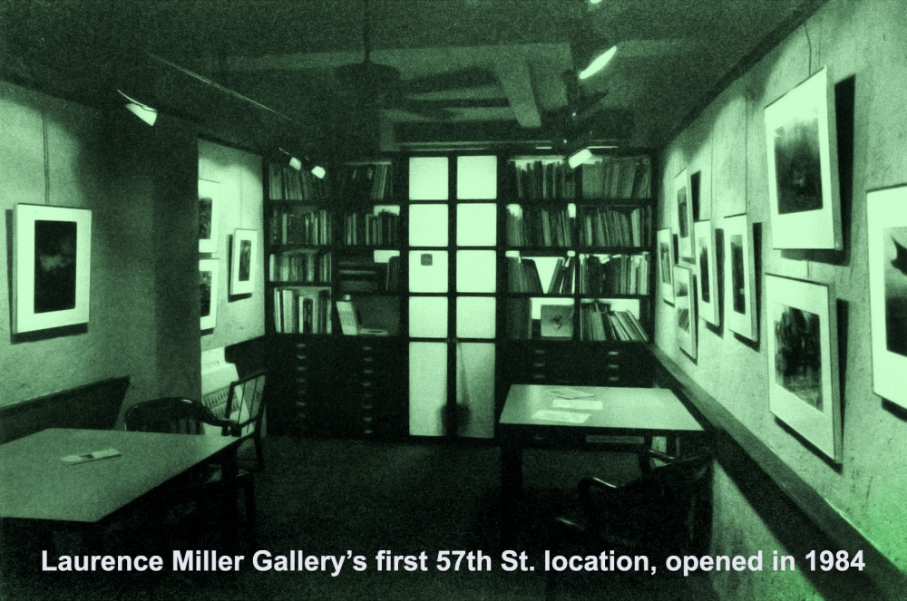 Laurence Miller Gallery's first 57th Street gallery, opened in New York City in 1984.