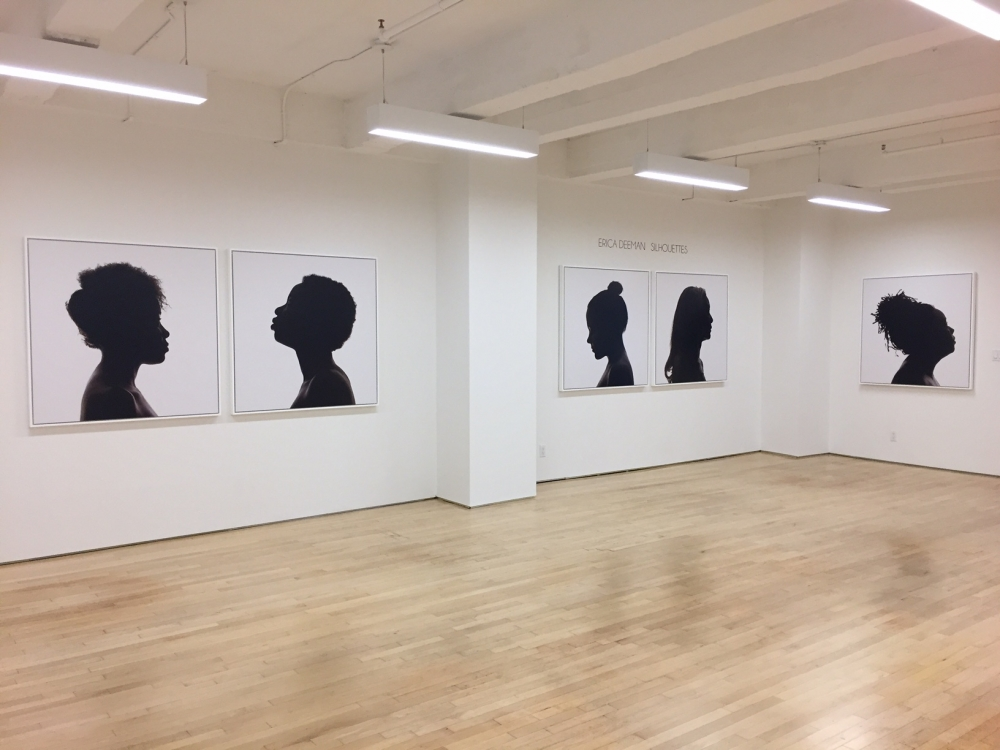Erica Deeman Silhouettes at Laurence Miller Gallery
