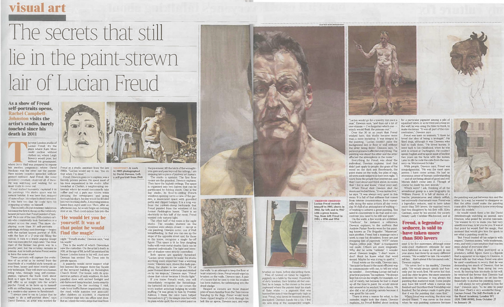 The secrets that still lie in the paint-strewn lair of Lucian Freud