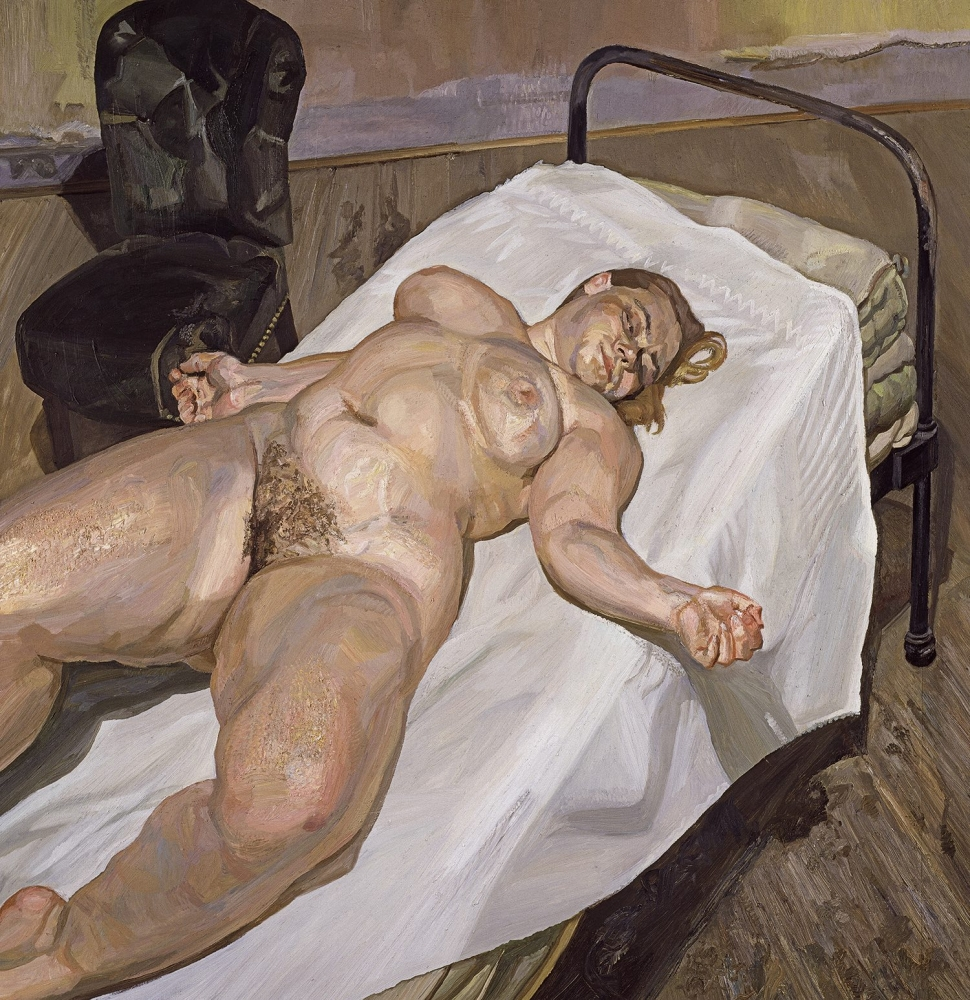 "Lucian Freud, ""Naked Portrait with Green Chair,"" 1999"