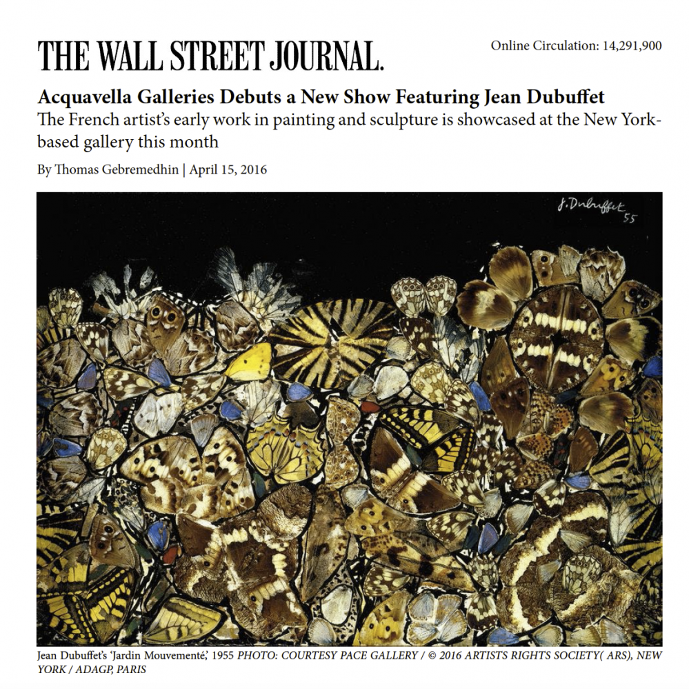 Wall Street Journal, Dubuffet at Acquavella