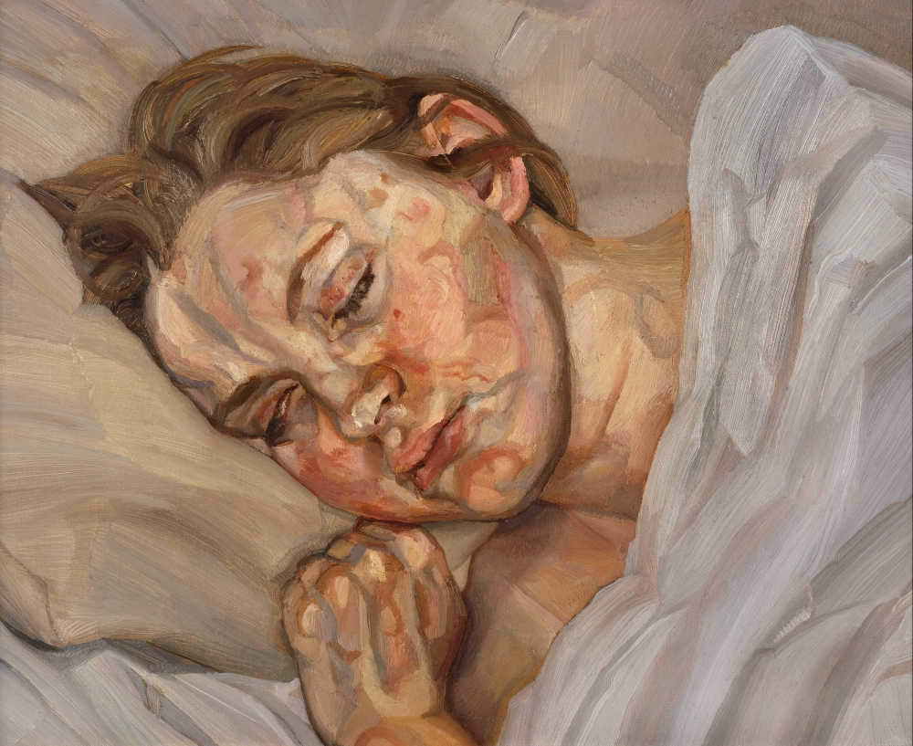 "Lucian Freud, ""Sleeping Head"""
