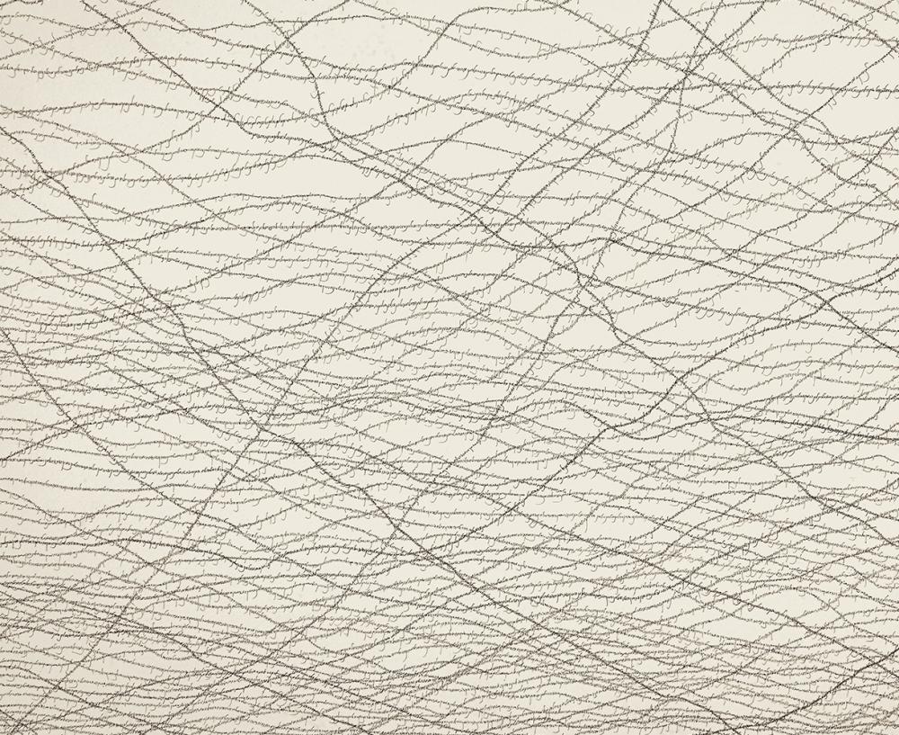 El Hanani The Hebrew Barbed Wire (detail)