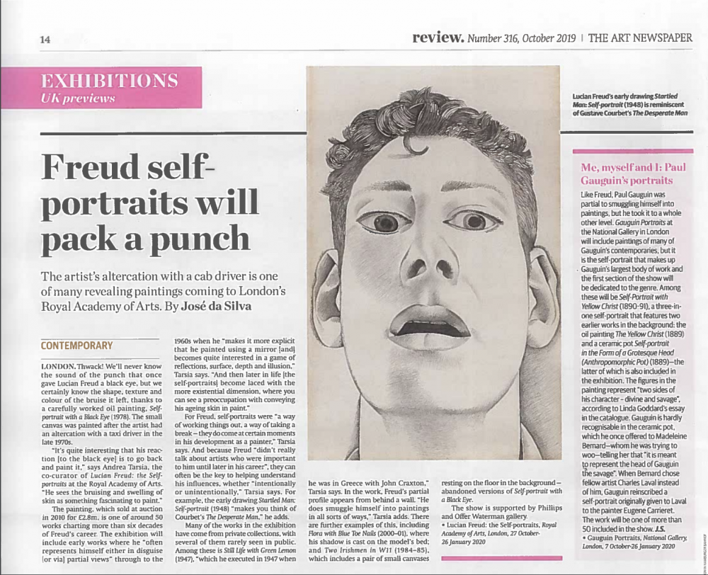 José da Silva, Freud Self-portraits will pack a punch