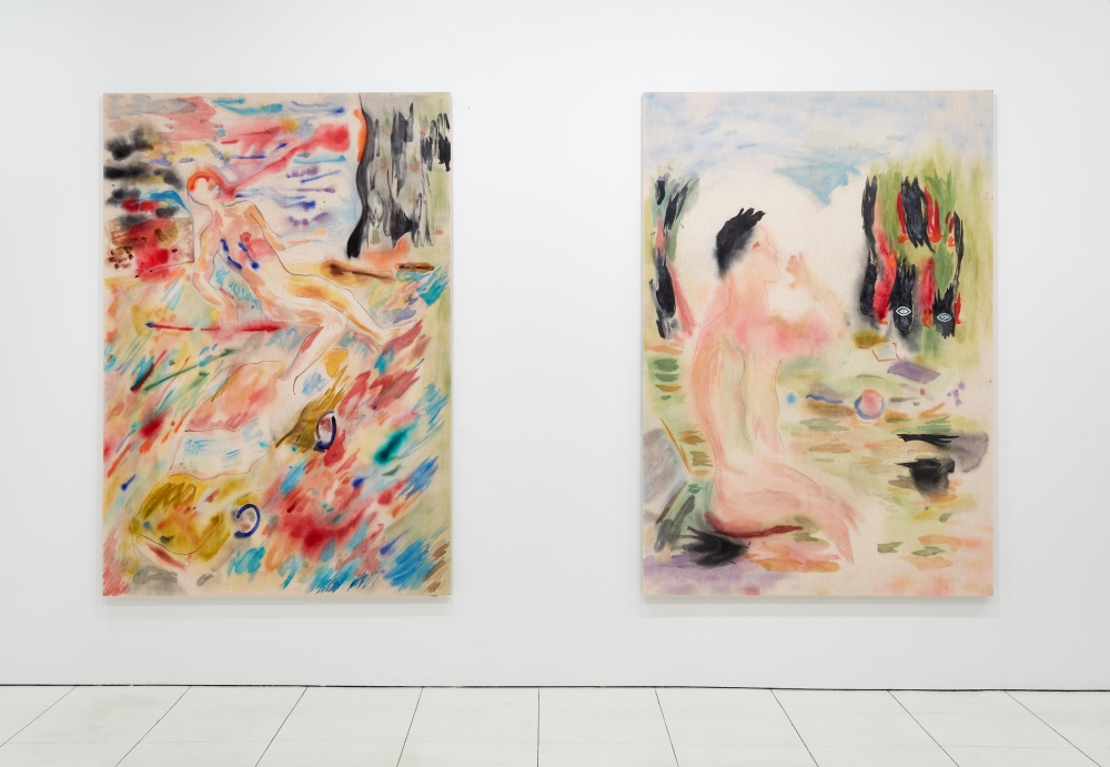 Installation view: Gus Van Sant: Recent Paintings, Hollywood Boulevard