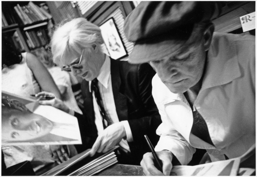 Andy with Truman Capote, Southampton, 1979