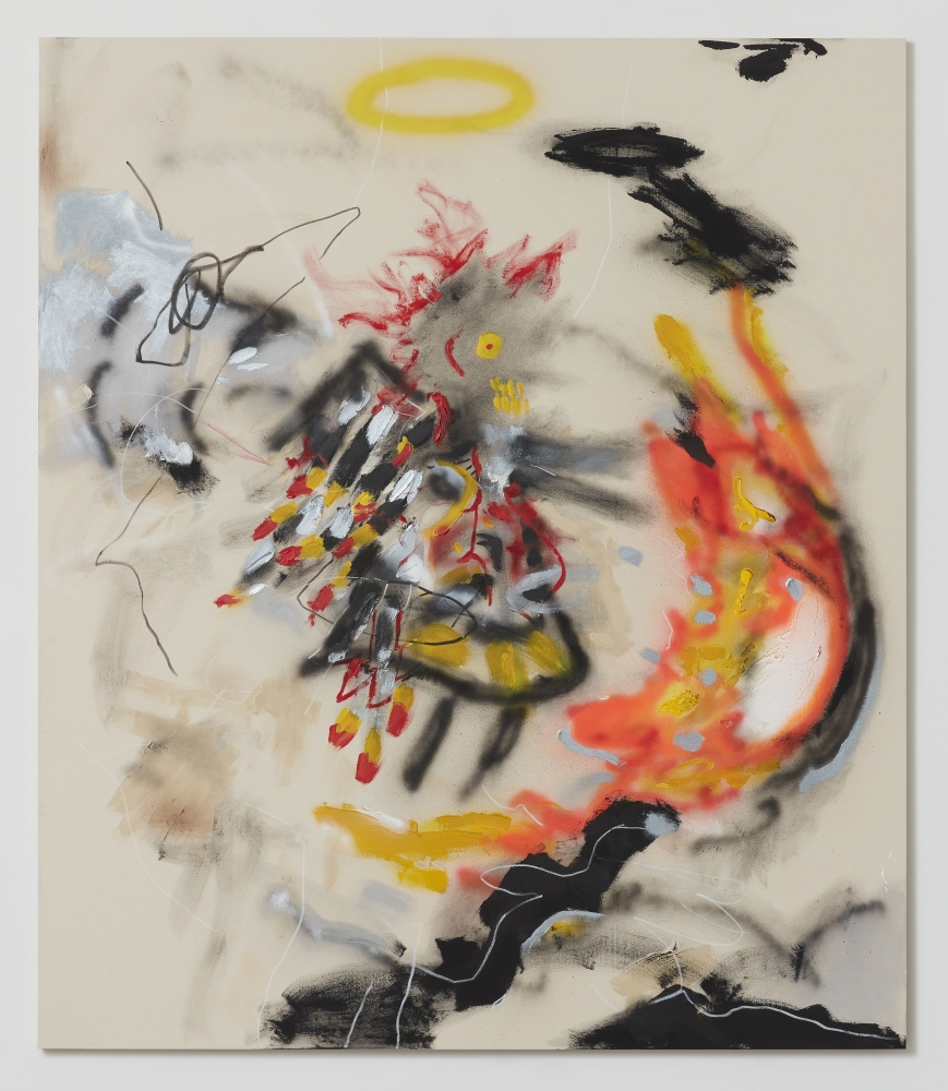 A painting by Robert Nava depicting an abstract angel