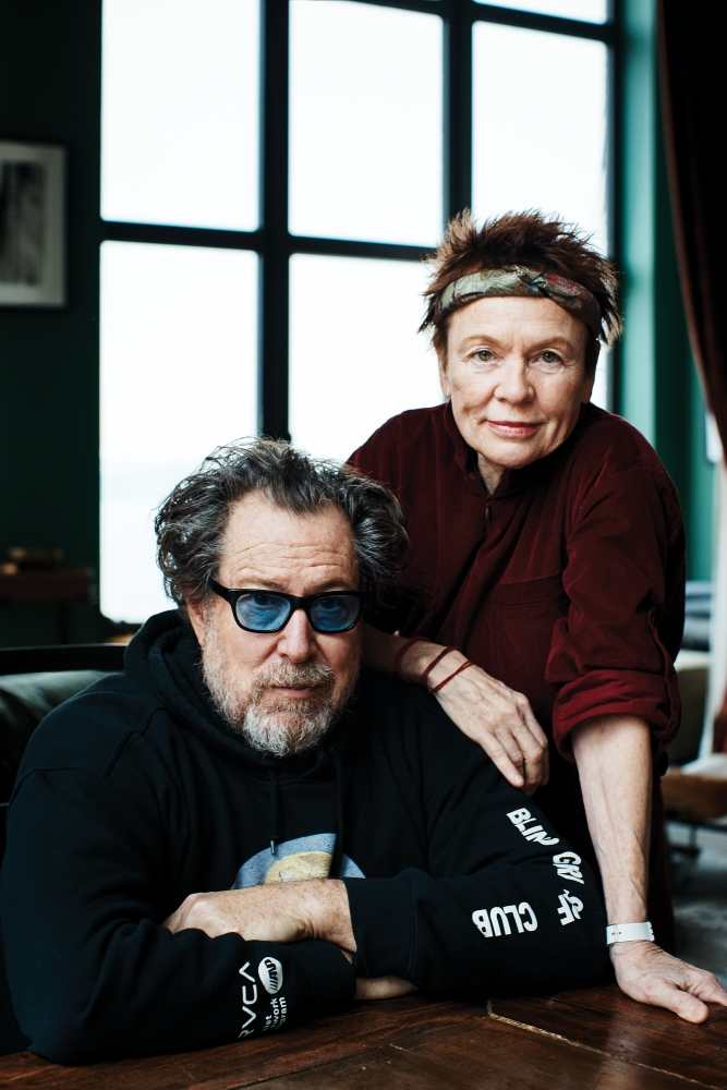 Julian Schnabel and Laurie Anderson at her Greenwich Village home.