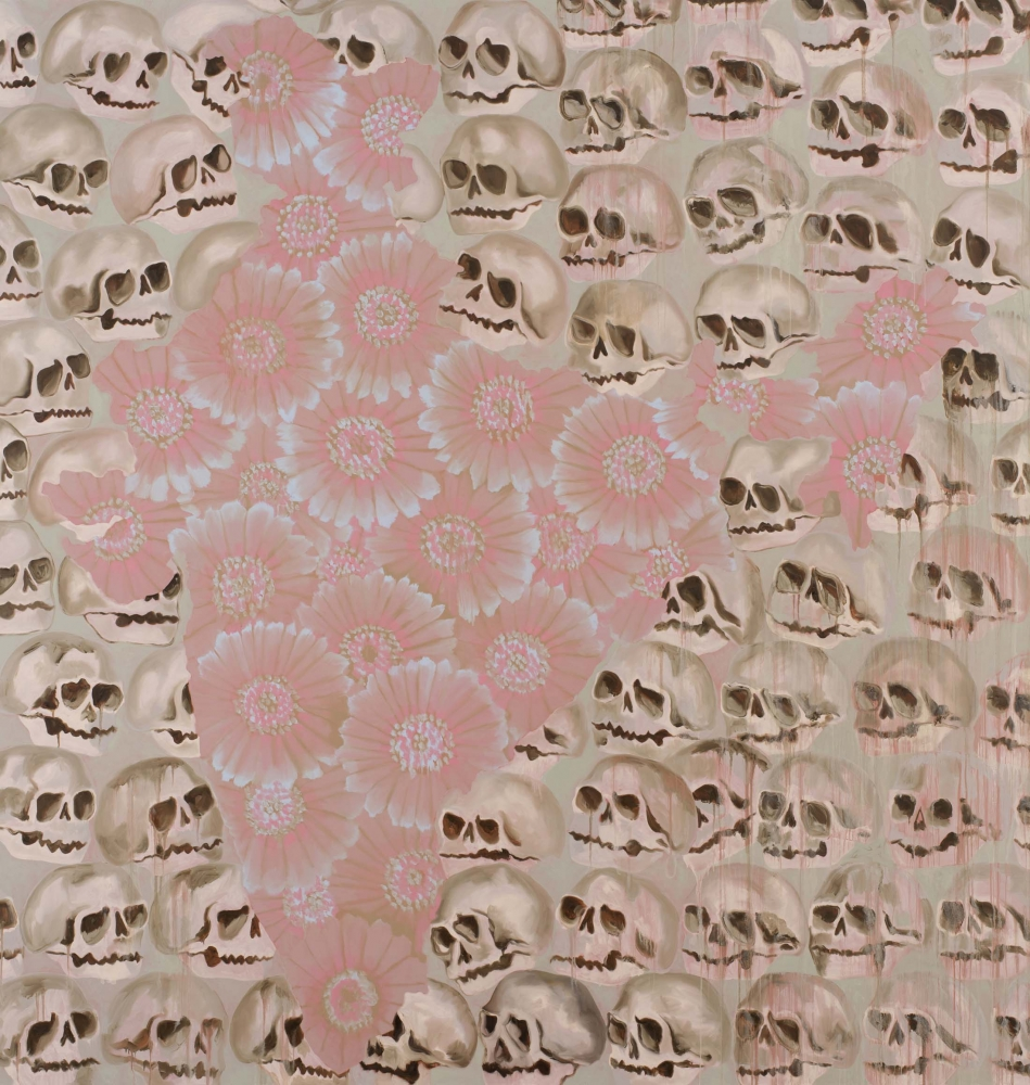 """Francesco Clemente """"India IV"""" (2019) Oil on canvas 96 inches x 92 inches"""