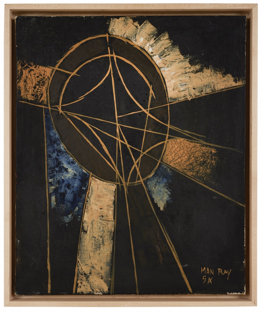 Oil on canvas painting by Man Ray, Composition, 1954