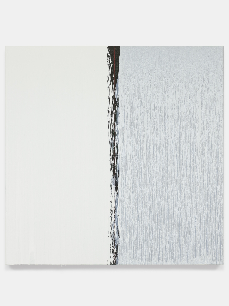 Oil painting by Pat Steir