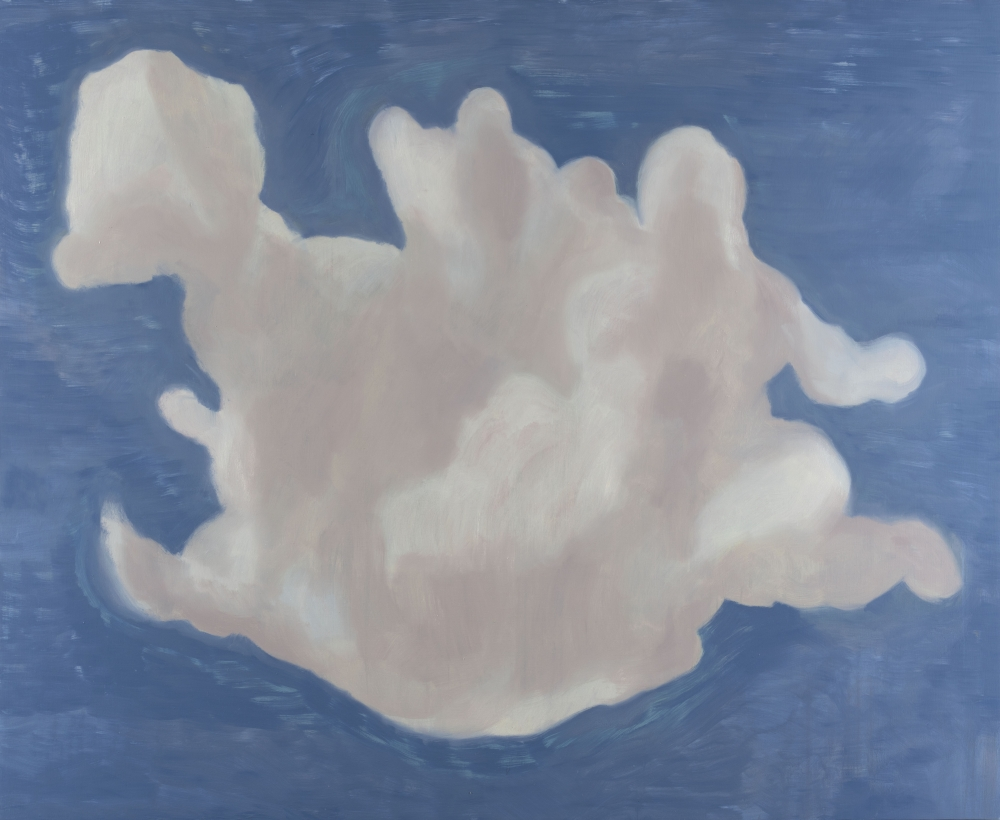 Francesco Clemente, Clouds VI, 2018, oil on canvas, 71 x 87 inches (180.3 x 221 cm)