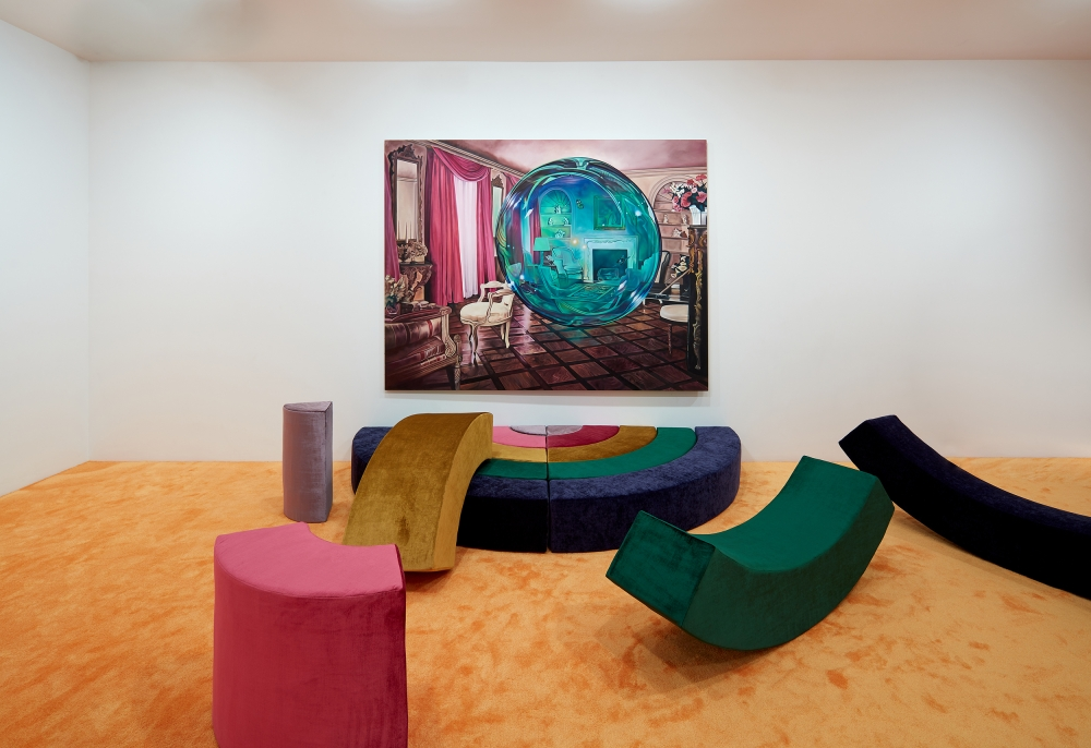 Installation view of Unweave a Rainbow by Ariana Papademetropoulos
