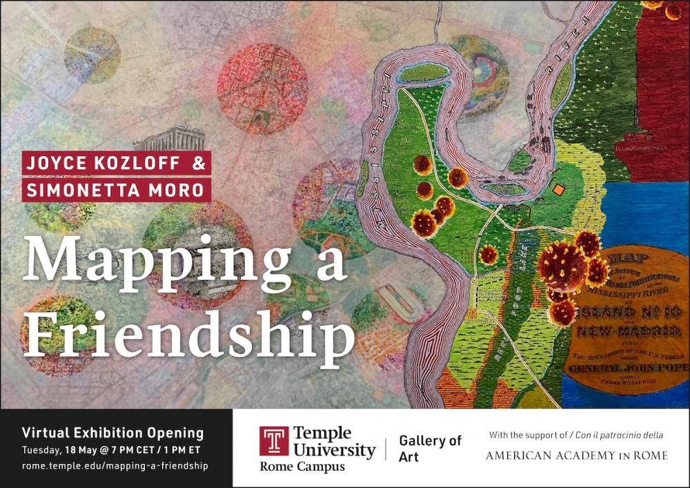 Virtual Gallery Opening: Mapping a Friendship, Joyce Kozloff and Simonetta Moro