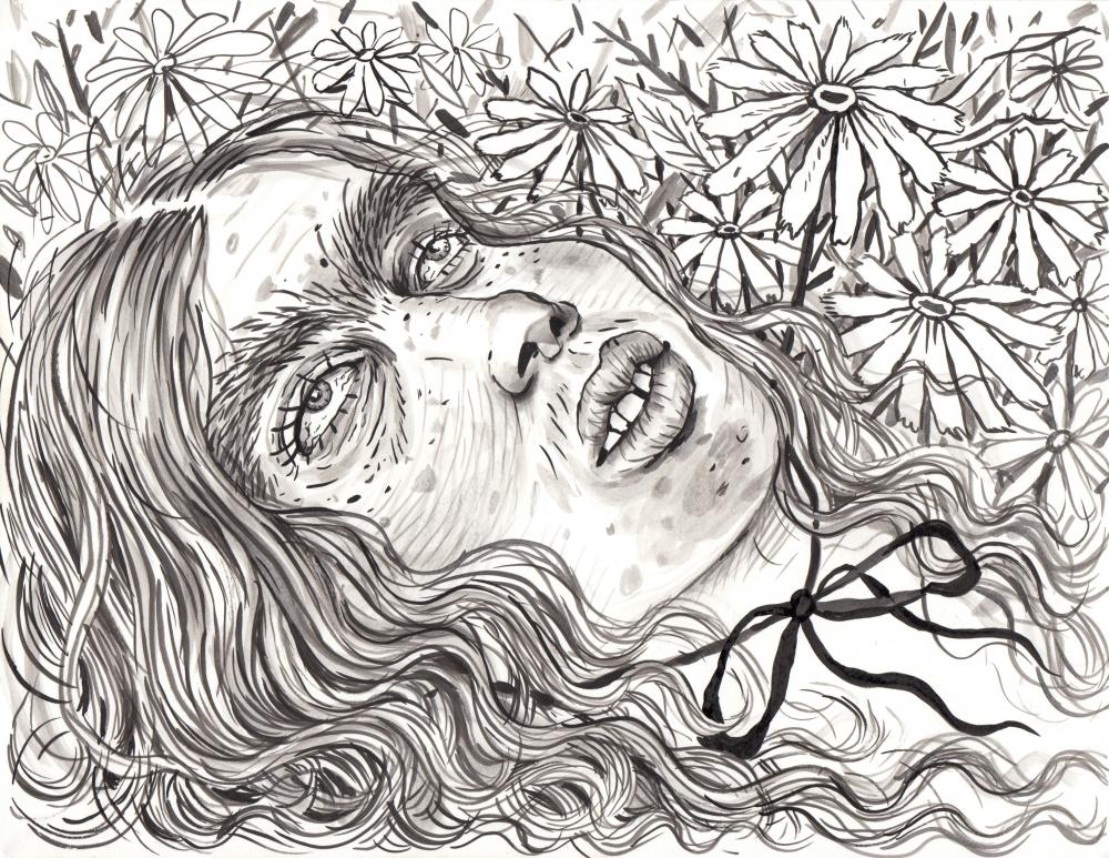 Rebecca Morgan ink drawing