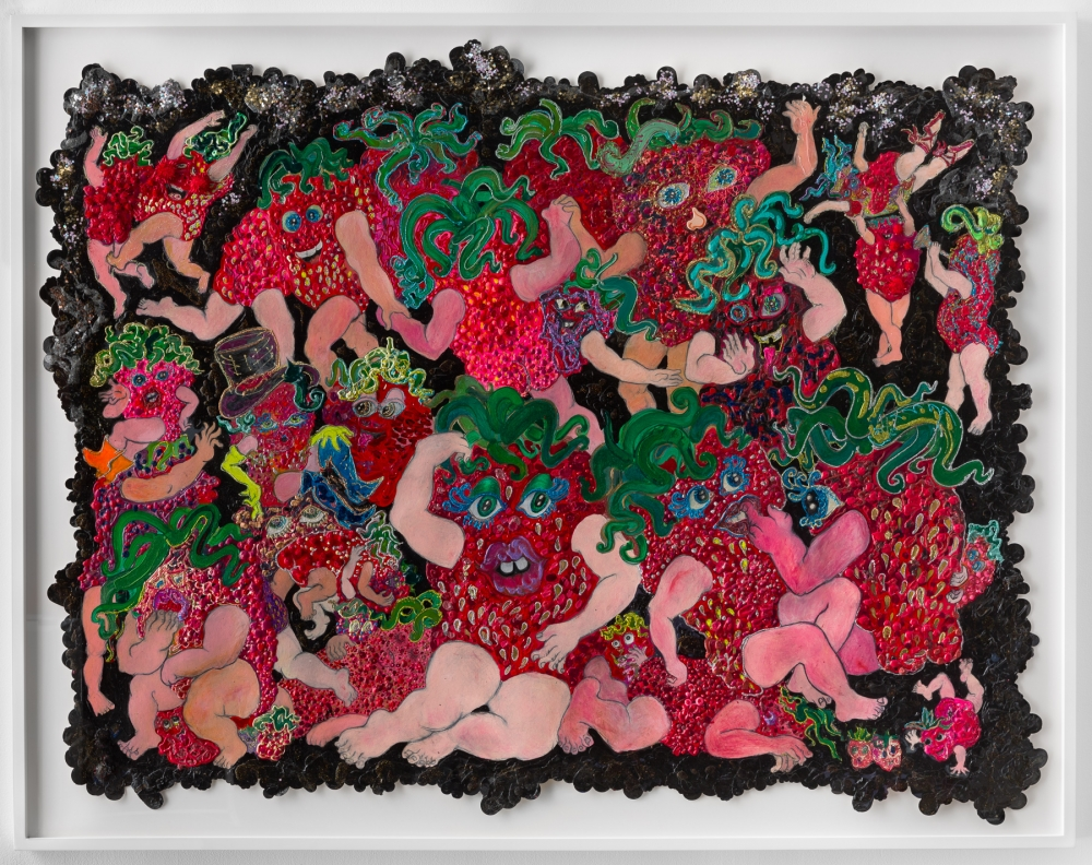 Framed collage by Irena Jurek