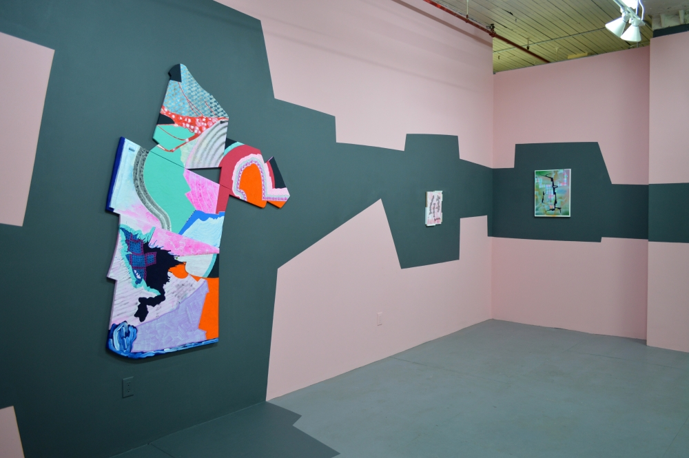 Installation including Todd Kelly painting