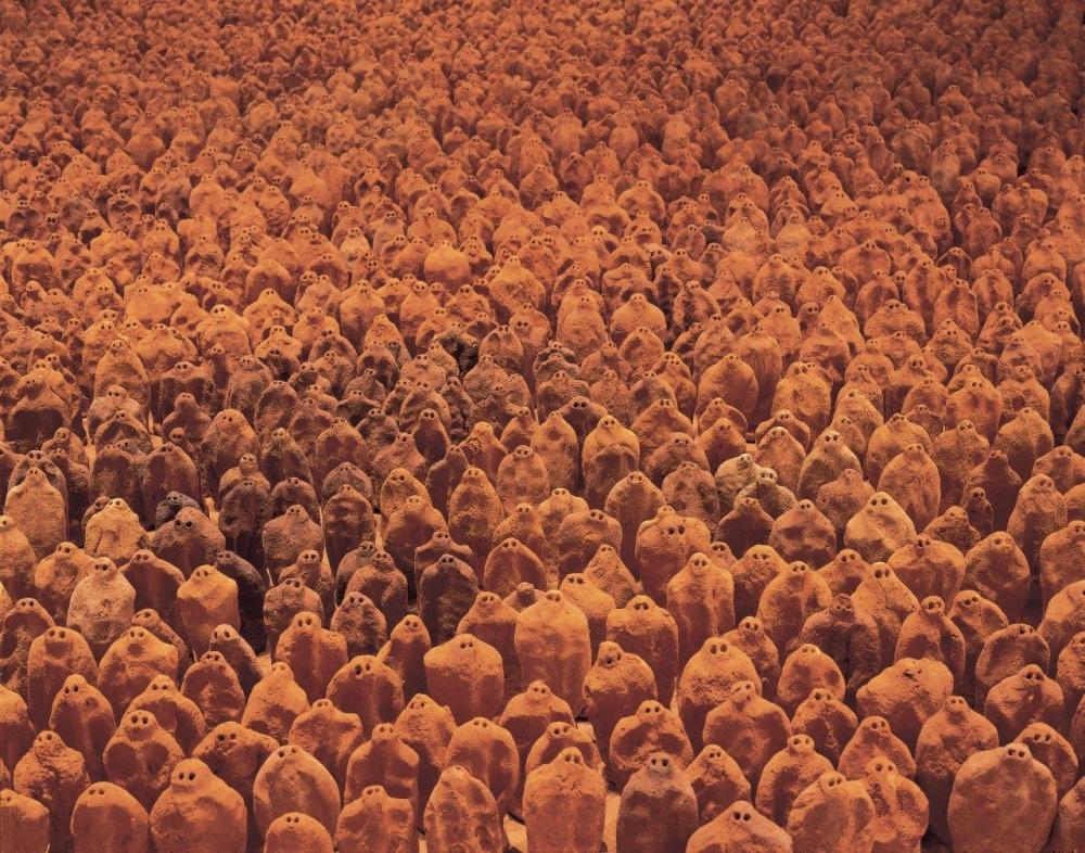 Antony Gormley in Socle Du Monde Biennale 2021