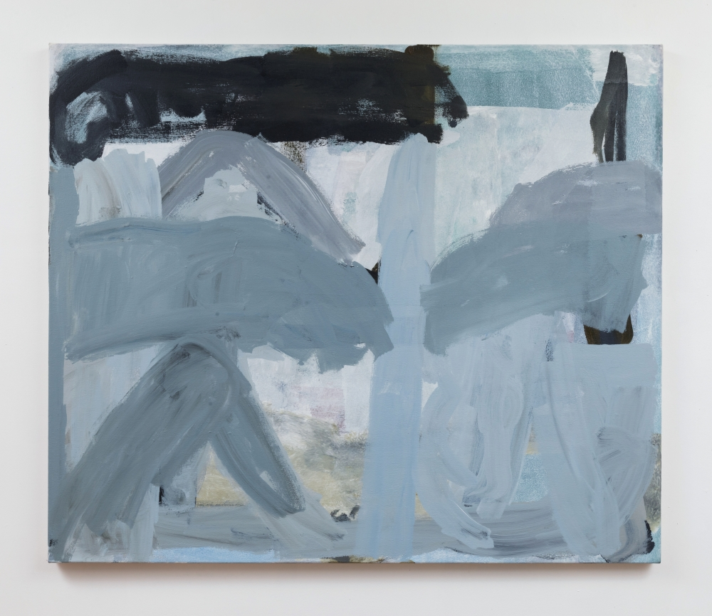 "Virva Hinnemo, Excavation, 2017, Acrylic on canvas, 44"" x 52""  at Anita Rogers Gallery"