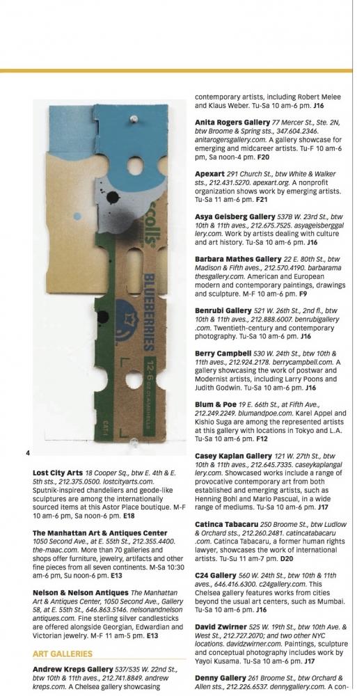 "George Negroponte's ""Blueberries"" Featured in IN NEW YORK Magazine"