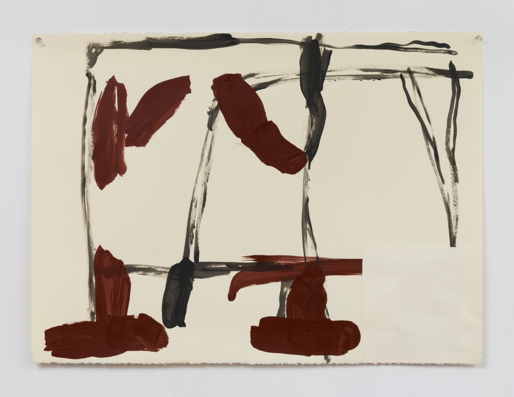 "Virva Hinnemo. Laundry I. 2017. Acrylic on paper. 22"" x 30""  at Anita Rogers Gallery"