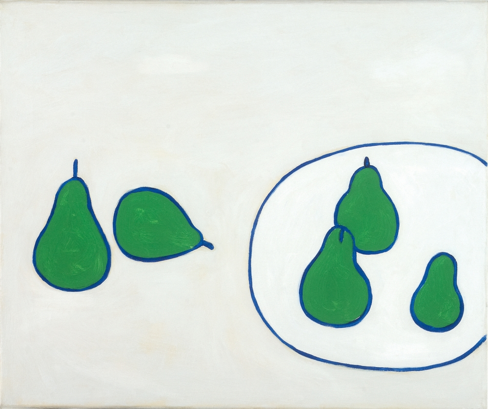 "William Scott. Still Life. Pears. 1977. Oil on canvas. 16"" x 20"" at Anita Rogers Gallery"