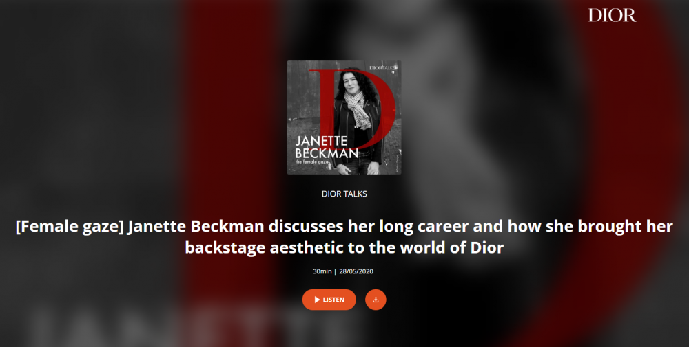 Janette Beckman discusses her long career and how she brought her backstage aesthetic to the world of Dior