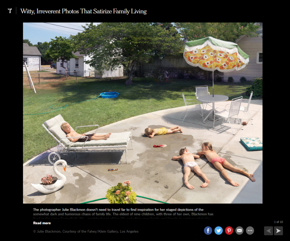 Julie Blackmon: The New York Times Witty, Irreverent Photos That Satirize Family Living - New York Times
