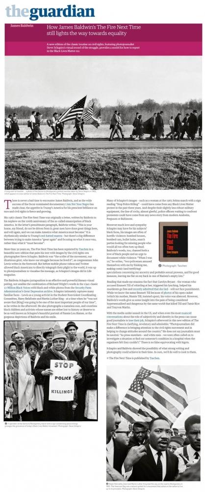 Steve Schapiro - How James Baldwin's The Fire Next Time still lights the way towards equality - The Guardian