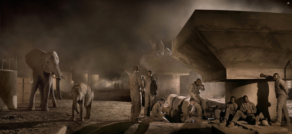 Nick Brandt's best photograph: elephants and building workers share a crowded Africa by Dale Berning Sawa (The Guardian)