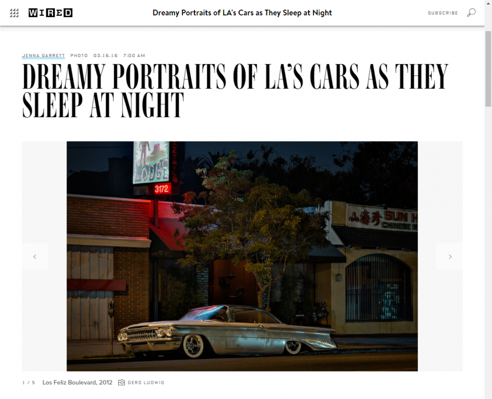 Gerd Ludwig: Dreamy Portraits of LA's Cars as They Sleep at Night - Wired