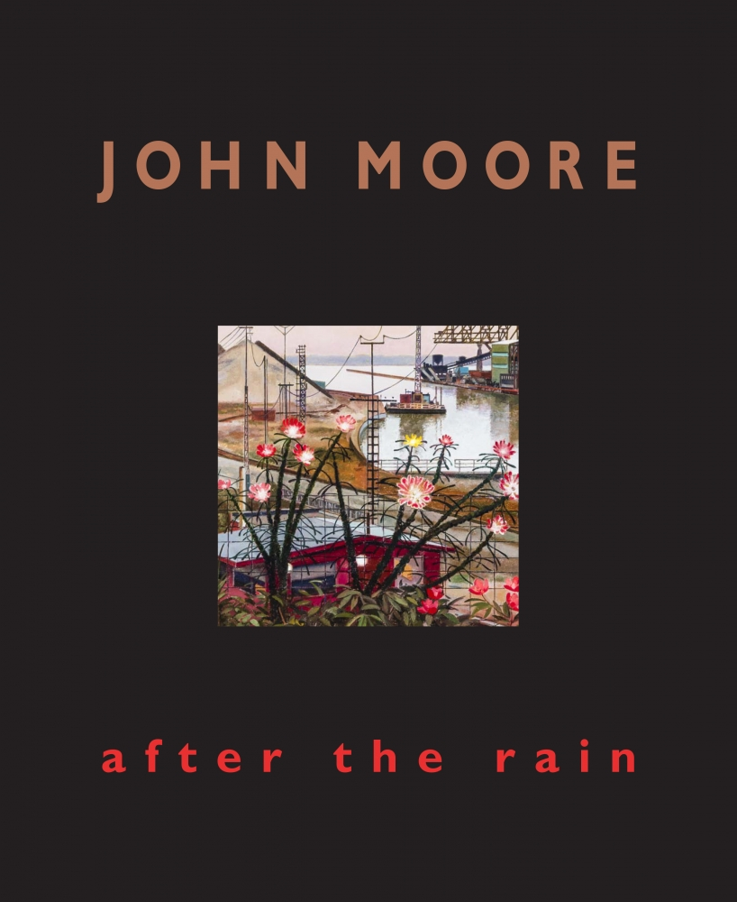 """image of the cover to exhibition catalogue for John Moore, """"After the Rain"""""""