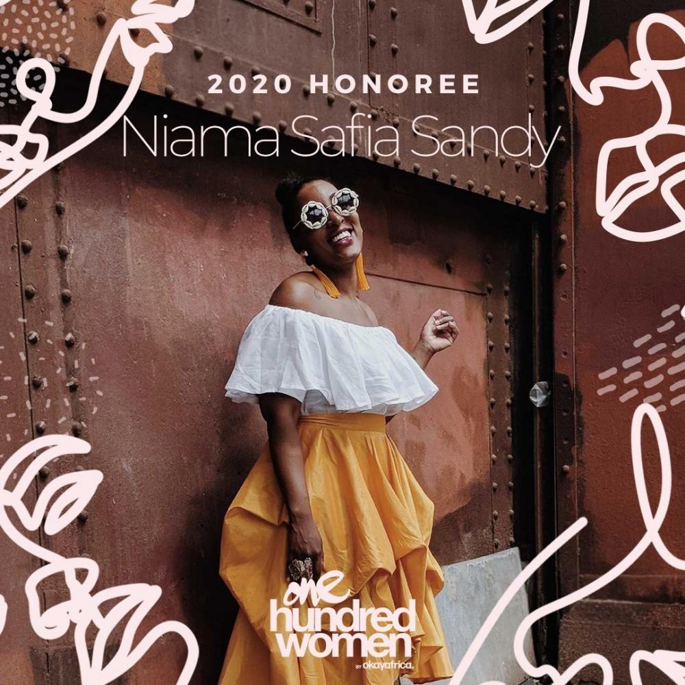 Director of Curatorial Affairs - Niama Safia Sandy is named one of OkayAfrica's 100 Women