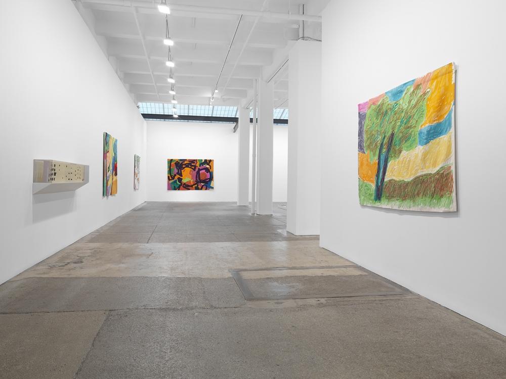 Installation view, Etel Adnan: Seasons, Galerie Lelong & Co., New York