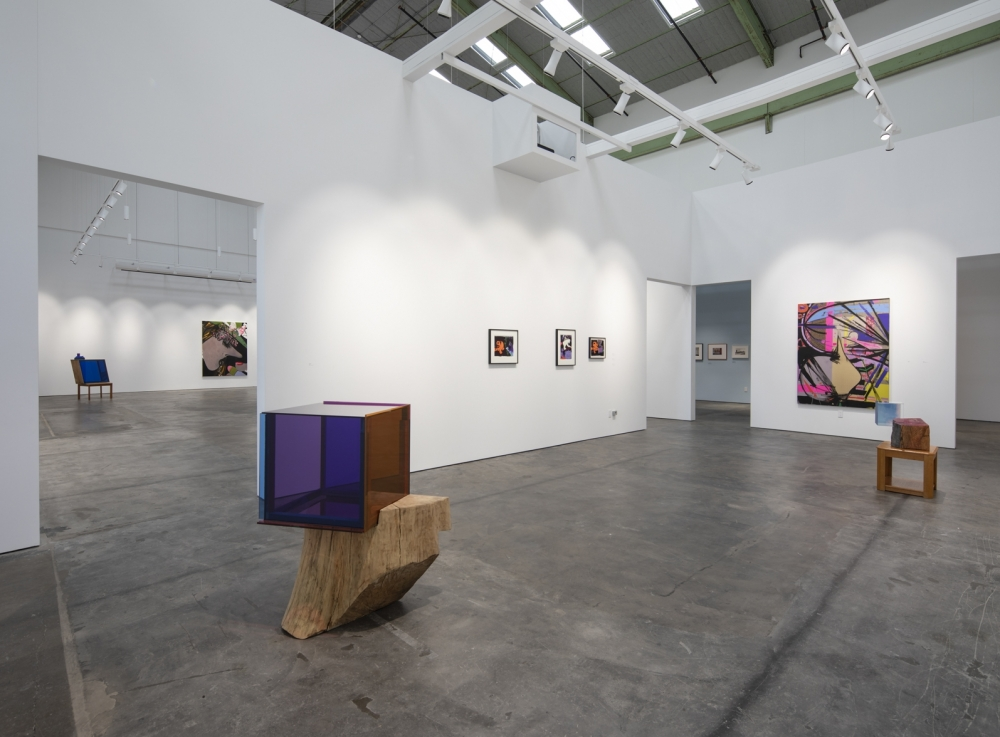 Installation View of True Blue Mirror at McEvoy Foundation for the Arts, San Francisco, 2019