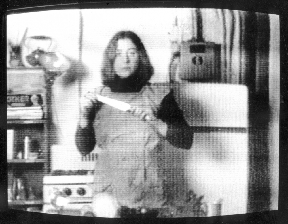 MARTHA ROSLER  Semiotics of the Kitchen (still)  1975