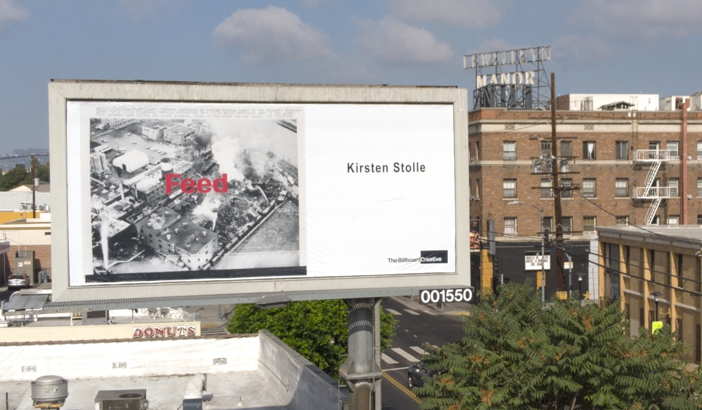 "Kirsten Stolle's ""Feed"" featured on a Los Angeles billboard"