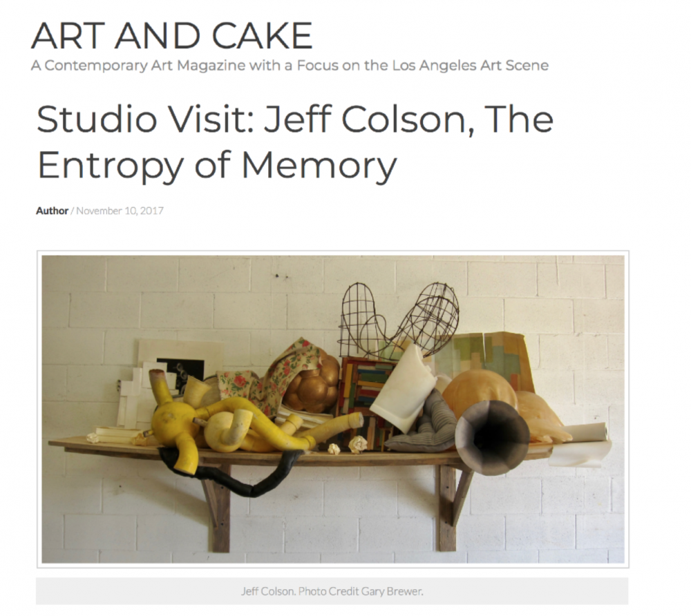 Art and Cake LA, Studio Visit: Jeff Colson