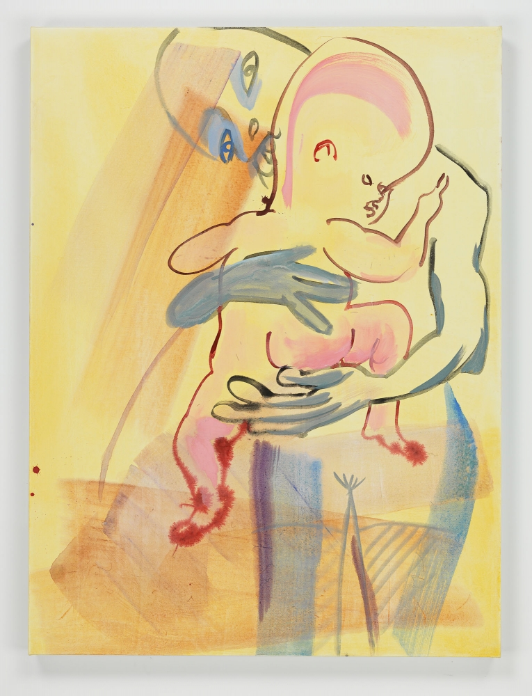 Camille Henrot's Mother Tongue painting