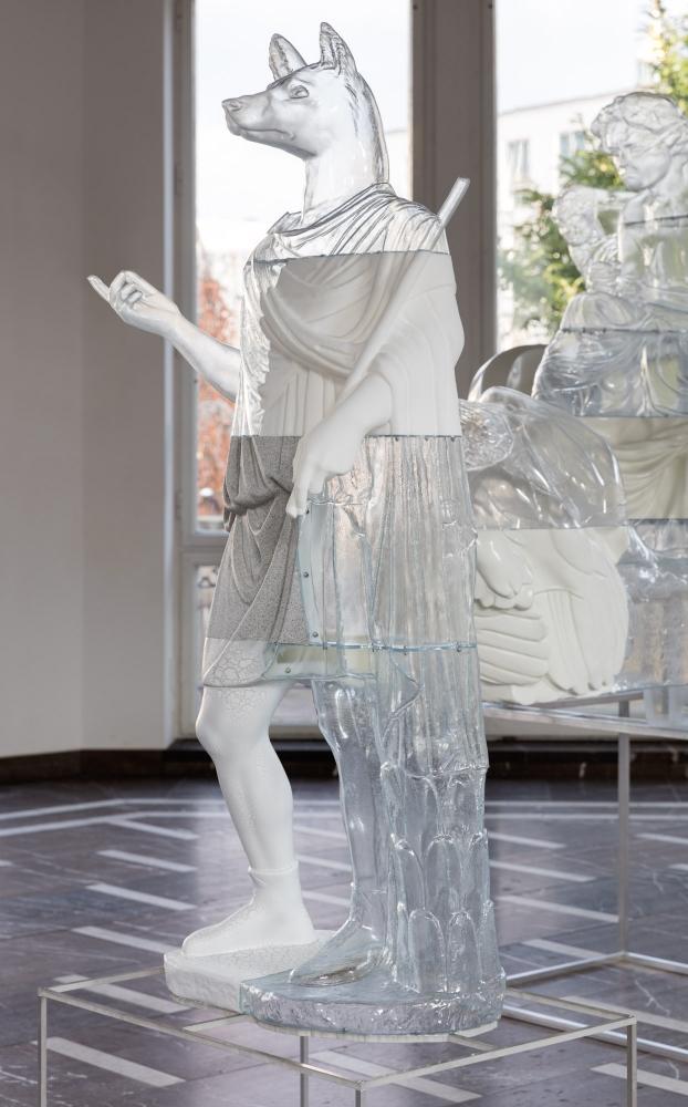 Oliver Laric, Hermanubis sculpture on base