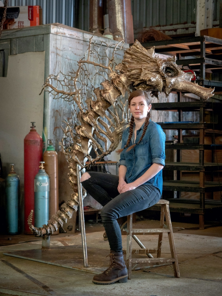 Sculptor Ashley Pridmore's Wild Talent: A New Orleans artist breathes new life into death
