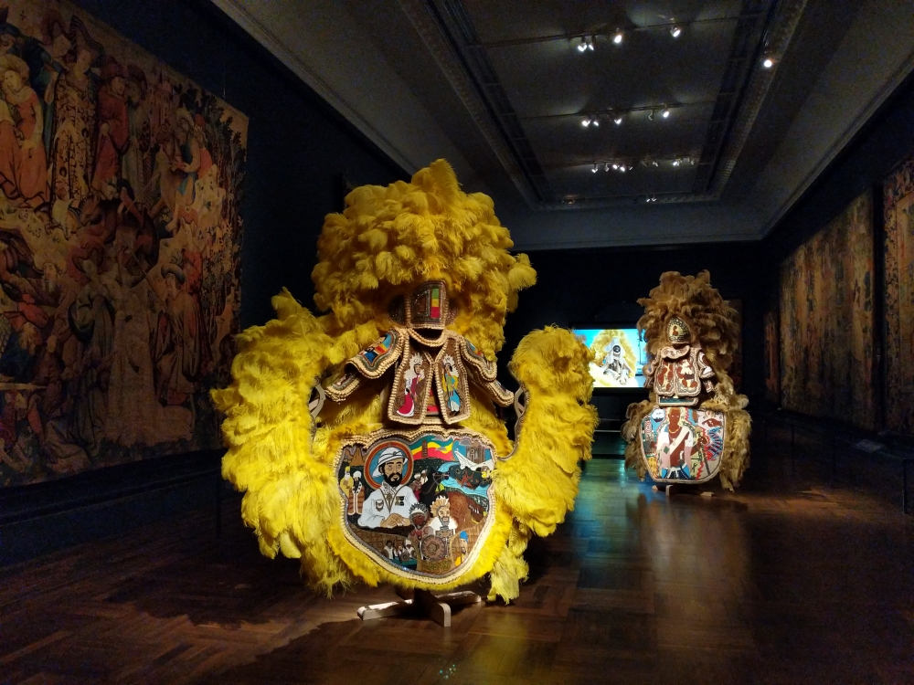 Victoria and Albert Museum, London exhibits New Orleans Artist Demond Melancon's Mardi Gras Indian Suits