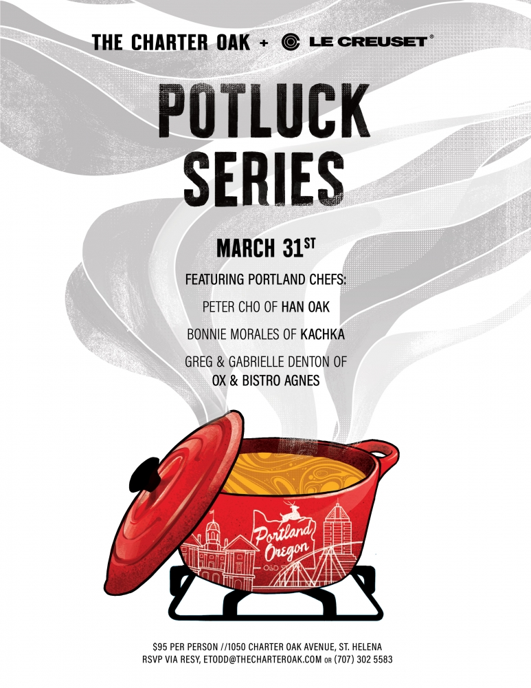 GUEST CHEF POTLUCK DINNER MARCH 31