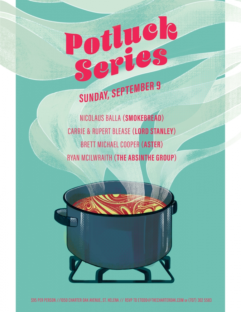 GUEST CHEF POTLUCK DINNER SEPTEMBER 9