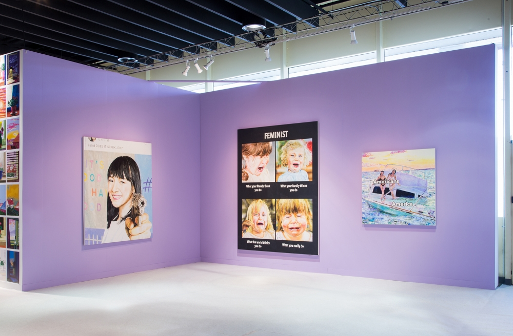 Meme Girl, installation view, The Armory Show, 2020.
