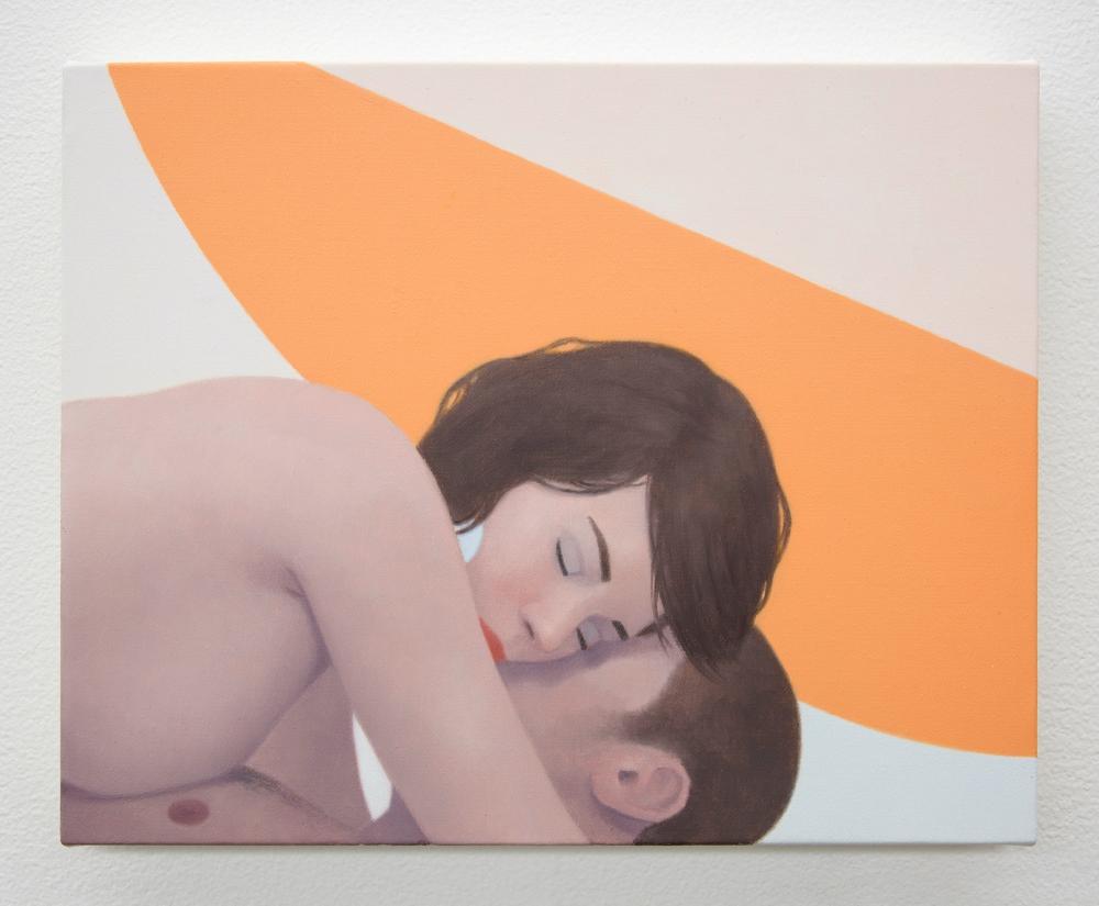 """Ridley Howard, """"Orange Shape Lovers,"""" 2019"""