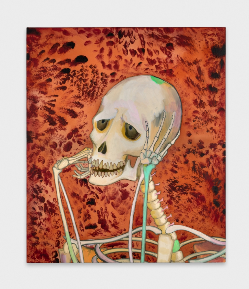 "Paul Heyer, ""Skeleton Daydreaming,"" 2018"