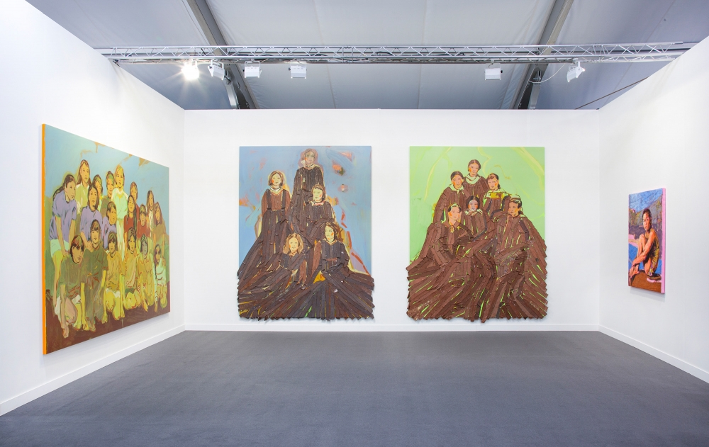 Installation view at Frieze LA, 2019.