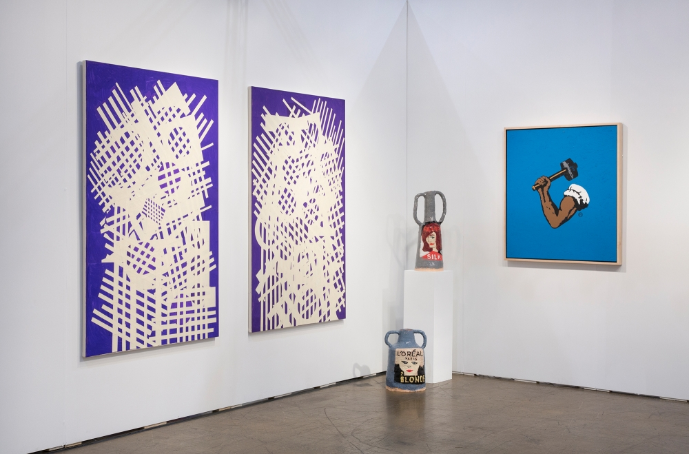 Installation view, Art Toronto with Awol Erizku and David Korty, 2017